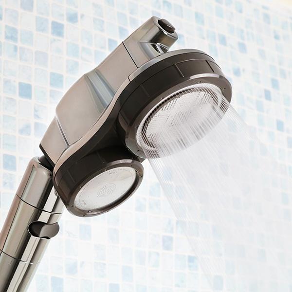 シャワーヘッド 節水 3D 2Face顔シャワー アラミック ( 送料無料 シャワー 節水シャワー 3D2F顔シャワー 水圧アップ 水圧 増圧 節水シャワーヘッド 高速水流 角度調整 顔 顔用シャワー クレンジング 体用 ツーフェイス 日本製 )