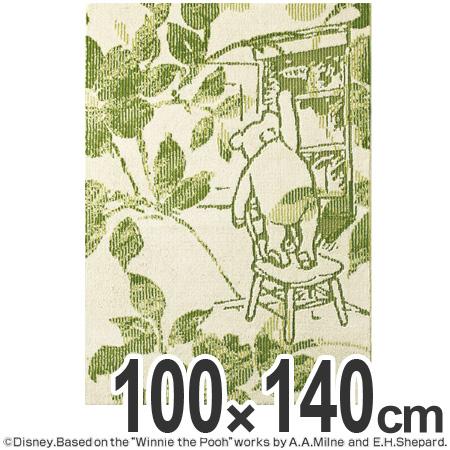 ラグ カーペット スミノエ くまのプーさん フィオーレラグ 100×140cm ( 送料無料 ラグマット センターラグ 絨毯 じゅうたん 防ダニ ディズニー キャラクター リビング Disney )