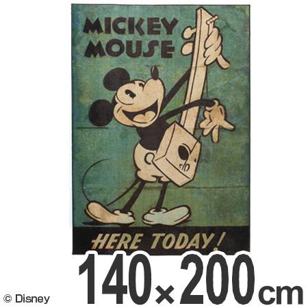 ラグ カーペット スミノエ ミッキー ミュージックラグ 140×200cm ( 送料無料 ラグマット センターラグ 絨毯 じゅうたん 防ダニ 床暖房対応 ディズニー キャラクター リビング Disney  )