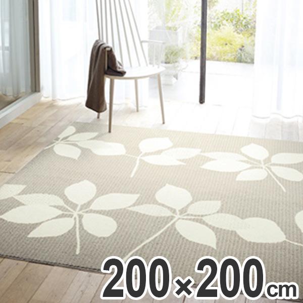ラグ カーペット スミノエ ピアンタ 200×200cm ( 送料無料 ラグマット センターラグ 絨毯 じゅうたん 防ダニ 床暖房対応 葉 植物 )