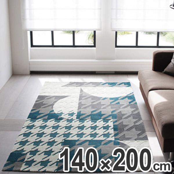 ラグ スミノエ コンストラ 140×200cm ( 送料無料 ラグマット 千鳥柄 カーペット センターラグ 絨毯 床暖房対応 クラシカル )