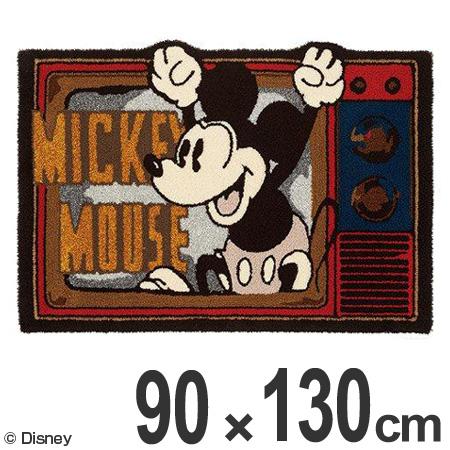 ラグ スミノエ ミッキー フライアウトラグ 90×130cm ( 送料無料 ラグマット カーペット 変形 絨毯 じゅうたん 防ダニ 床暖房対応 ディズニー キャラクター 日本製 センターラグ Disney )