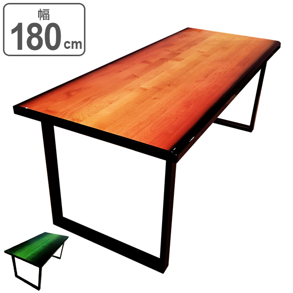 ダイニングテーブル 幅180cm テーブル 木製 天然木 食卓 木目 アイアン ( 送料無料 食卓テーブル 木製テーブル 6人掛け 180 机 食卓机 リビングテーブル おしゃれ シンプル 6人用 つくえ日本製 )