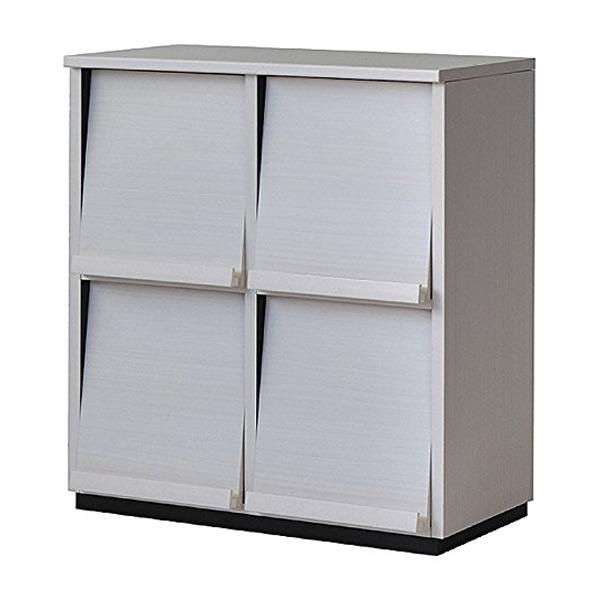 ディスプレイラック ウォルフィット フラップ付 2列2段 ホワイト ( 送料無料 本棚 A4ファイル収納 書棚 収納棚 多目的ラック シェルフ 積み重ね 木製 )