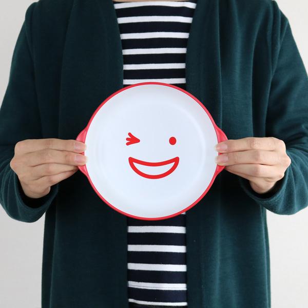 プレート ノーティ キッズカレーパスタ皿 洋食器 樹脂製 日本製 ( 電子レンジ対応 お皿 食洗機対応 食器 皿 器 平皿 食洗機使用可 食洗機OK 子供 子ども ベビー 赤ちゃん 持ちやすい スマイル )