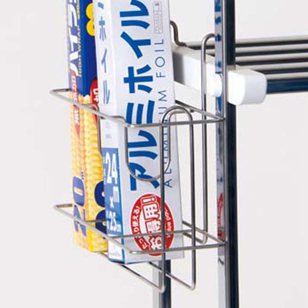 現品 水切り棚用の ラップホルダー パーツでもっと便利に快適に 水切り棚用 超目玉 ステンレス製 ラップ立て ラップ入れ キッチン キッチン収納 ホイル立て キッチン雑貨 収納 キッチン用品