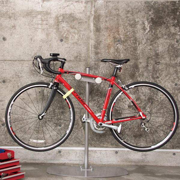 ロードバイクスタンド 自転車 スタンド ディスプレイスタンド 1台 日本製 ( 送料無料 ロードバイク 1台用 自転車スタンド ディスプレイ スタンド タワー おしゃれ シンプル チャリ バイクスタンド 室内用 クロスバイク )