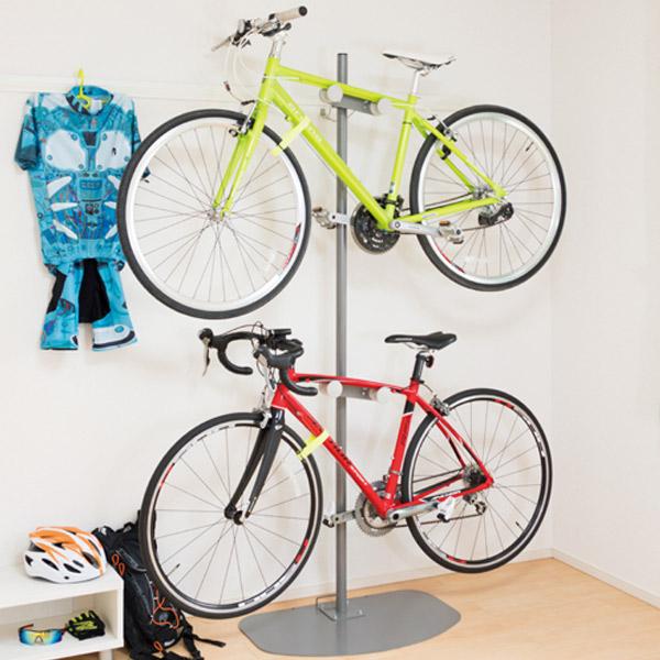 ロードバイクスタンド 自転車 スタンド ディスプレイスタンド 2台 日本製 ( 送料無料 ロードバイク 2台用 自転車スタンド ディスプレイ スタンド タワー おしゃれ シンプル チャリ バイクスタンド 室内用 クロスバイク )