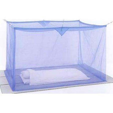 片麻蚊帳(かや) 4.5畳 ブルー 送料無料