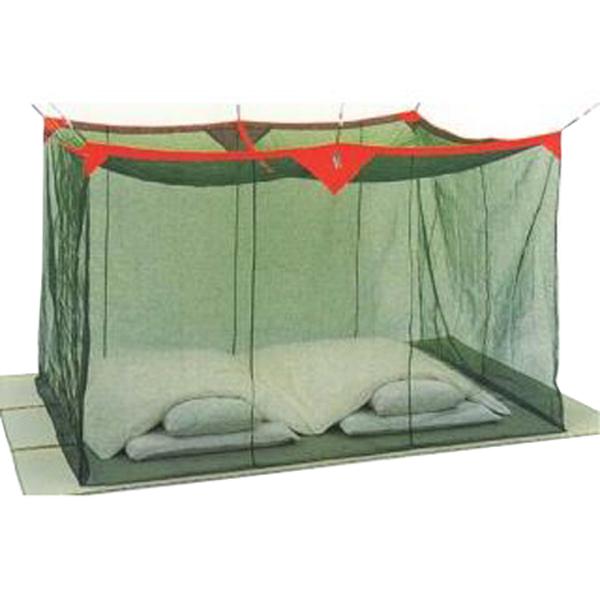グリーン 送料無料 3畳 ナイロン蚊帳(かや) 洗える