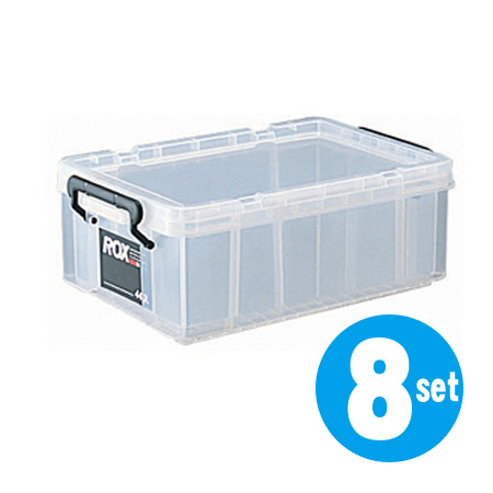 収納ボックス クローゼット用 ロックス 440S 8個セット( フタ付き キャスター取付可 送料無料 収納ケース 押入れ収納 プラスチック 衣装ケース 積み重ね スタッキング 衣類収納 工具箱 )