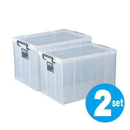 収納ボックス 押入れ用 ロックス 660-2L 2個セット ( 衣装ケース 工具箱 送料無料 フタ付き 収納ケース プラスチック 蓋付 積み重ね スタッキング 衣類収納 キャスター取付可 ディープタイプ 深型 収納庫 )