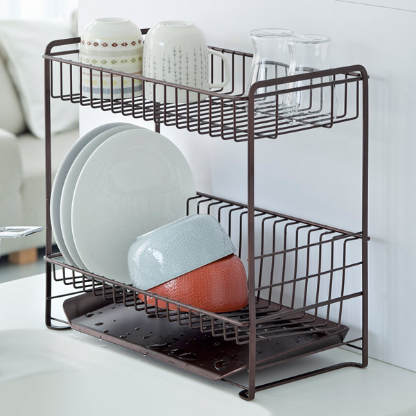 be65c64d7176 Usable without wasted space and use very narrow type of Dish drainer rack  is bunk. Lower plate frame line as the inclination of the ...