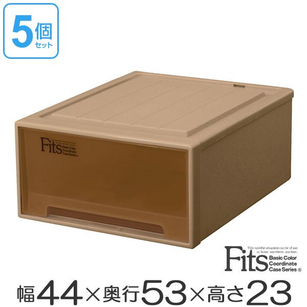 最新作 収納ケース Fits ( Fits フィッツケースクローゼット 収納ボックス ワイドM-53 ブラウン シール付 5個セット ( 送料無料 収納ボックス 引き出し 衣装ケース 衣類収納 プラスチック チェスト クローゼット 収納 fitsケース 引出し スタッキング キャスター取付可 丈夫 ), 豊平区:3701e7d9 --- uibhrathach-ie.access.secure-ssl-servers.info