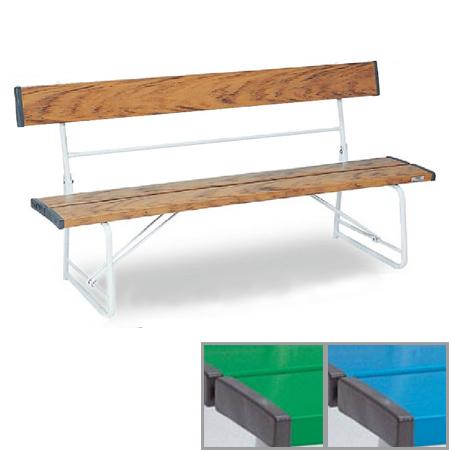 ベンチ 樹脂製 背付き 折りたたみ式 150cm 2~3人用 ( 送料無料 長椅子 プラスチック 屋外 )