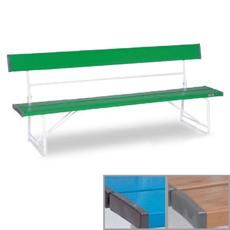 ベンチ 樹脂製 背付き 折りたたみ式 180cm 3~4人用 ( 送料無料 長椅子 プラスチック 屋外 )