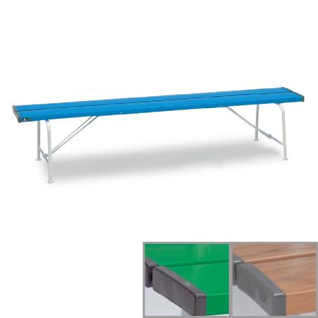 ベンチ 樹脂製 背なし 折りたたみ式 180cm 3~4人用 ( 送料無料 長椅子 プラスチック 屋外 )