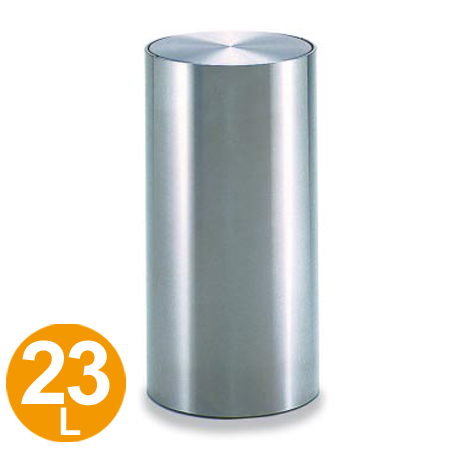 ゴミ箱 ステンレスくず入れ 丸型 23L 回転フタ付き DM-030 ( 送料無料 ダストボックス ごみ箱 屑入 )