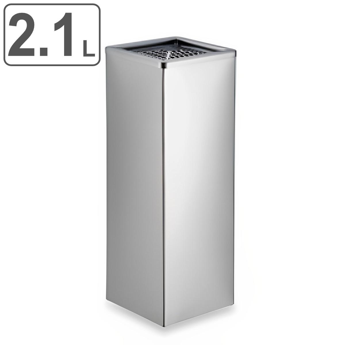 灰皿 スタンド角型 ステンレス製 2.1L ( 送料無料 スモーキングスタンド 吸いがら入れ )