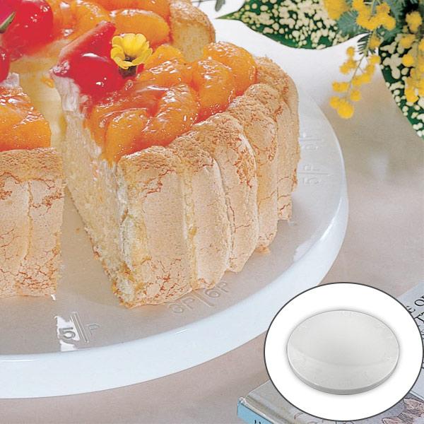 正確に等分に切り分けられる目盛付きのケーキ用回転台 クールスタンド デコレーションスタンド 飾り付け台 ケーキクーラー ケーキ用 希少 回転台 お菓子作り タイムセール タイガークラウン 27cm トラクタクールスタンド 製菓道具 目盛付き