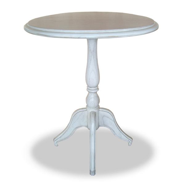 テーブル カフェテーブル クラシック調 メゾン 直径55cm ( 送料無料 コーヒーテーブル サイドテーブル リビングテーブル 天然木 木製 開梱設置無料 開梱設置 ホワイト 姫系 )