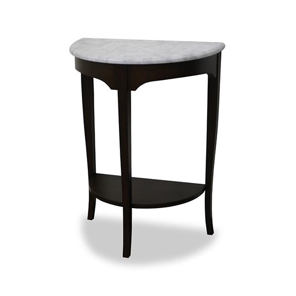 コンソールテーブル 天然木 クラシック調 大理石天板 ルシール 幅60cm ( 送料無料 テーブル 机 サイドテーブル つくえ 玄関 マホガニー 開梱設置 開梱設置無料 木製 完成品 )