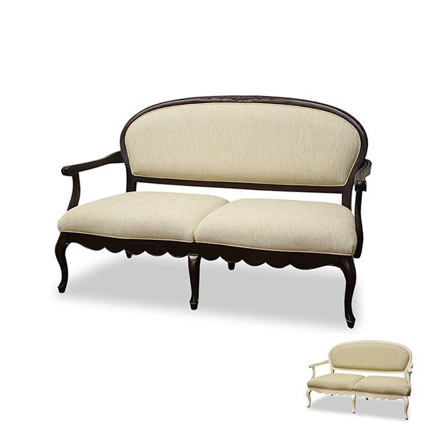 ソファ 2人掛け クラシック調 猫脚 フルール 幅140cm ( 送料無料 ソファ チェア イス 完成品 開梱設置 開梱設置無料 マホガニー ソファー 椅子 フロアソファ ソファチェア 家具 2人用 ヨーロピアン )