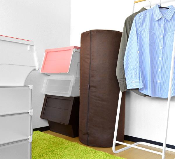 Comforter Storage Bag Cylindrical Mattress Case Our Original Products 5 Pieces Closet Futon Brown