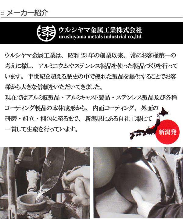 フライパン リョーガ 20cm ガス火専用 ユミック UMIC ( RYO-GA 浅型フライパン 調理器具 20センチ アルミフライパン 軽量 ウルシヤマフライパン 金属ヘラ使用OK キッチン用品 )