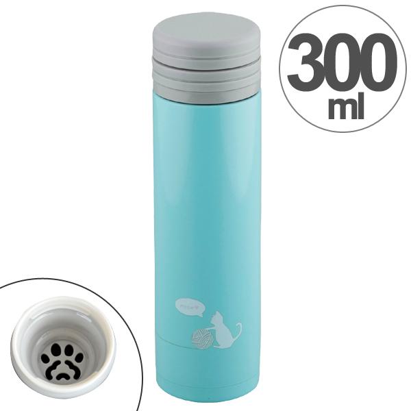ねこ好きさん必見 かわいい猫プリントのスリムタイプマグボトル 水筒 真空断熱マグボトル 直飲み 300ml ニャントル ケイトネコ 25%OFF ボトル 断熱2重構造 ステンレスマグ かわいい ステンレス製 コンパクト ブランド買うならブランドオフ すいとう マグボトル