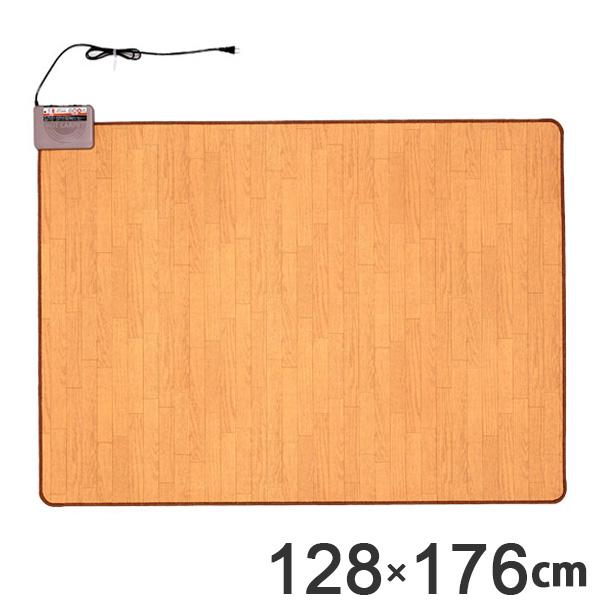 ホットカーペット 1.5畳本体 木目調 日本製 ( 送料無料 電気カーペット 床暖房カーペット フローリングタイプ 省エネ お手入れ簡単 簡単 撥水加工 一人暮らし 長方形 1.5畳用 1.5畳 リビング キッチン 省スペース )