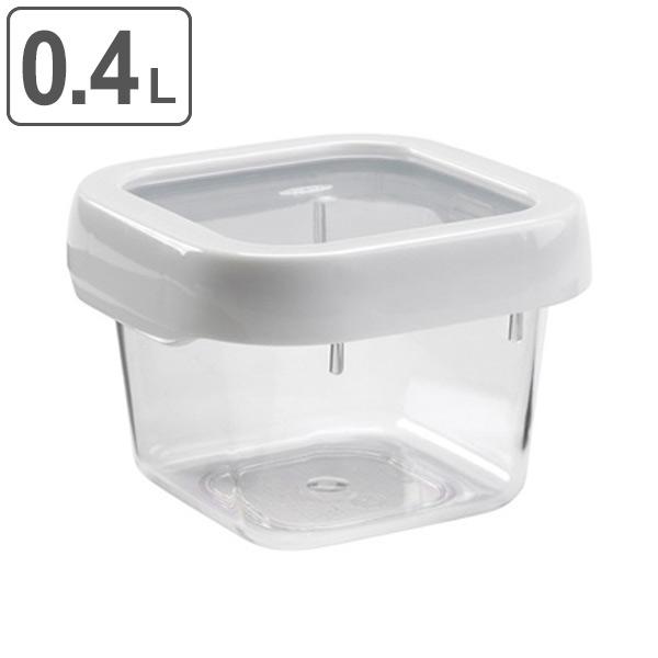 液もれ知らず 冷蔵 定価 冷凍保存もでき 弁当箱として持ち運びもOK OXO オクソー ロックトップコンテナ 0.4L S スクエア 食品ストック キッチン用品 400ml 代引き不可 プラスチック保存容器 電子レンジ対応 食洗機対応 積み重ね 保存容器 角型 冷凍庫OK
