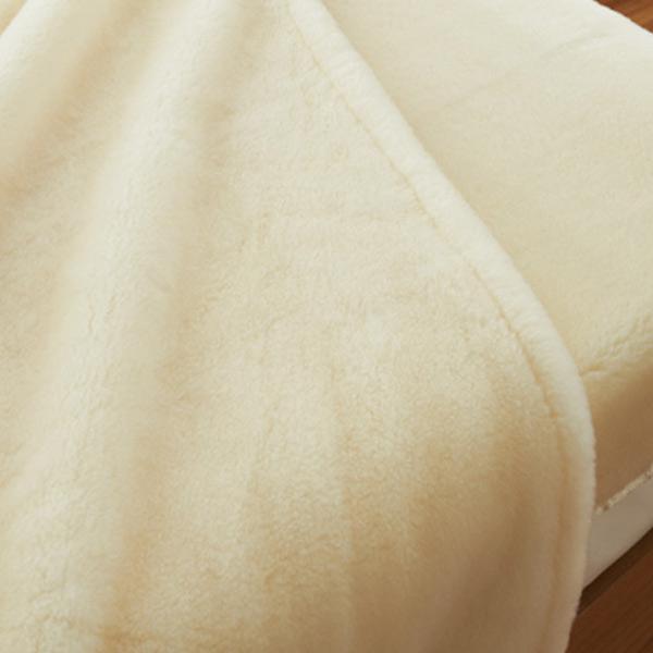 掛け毛布 メリノウール ウォッシャブル シングル 140×200cm アイボリー ( 送料無料 ブランケット 日本製 布団 寝具 洗える )