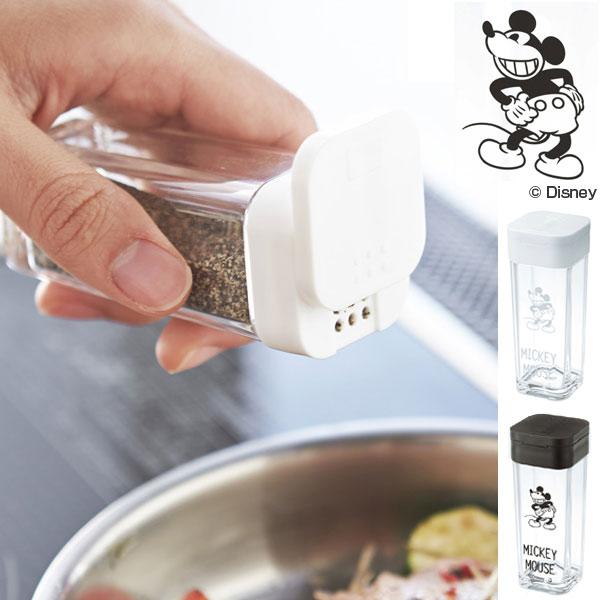 使いたい量が片手で調節できるスパイスボトル 調味料入れ スパイスボトル ミッキーマウス キャラクター ( ディズニー Disney ミッキー 調味料 収納 保存 ボトル 詰め替え 容器 調味料容器 調味料ボトル スパイス容器 ストッカー キャニスター 山崎実業 )