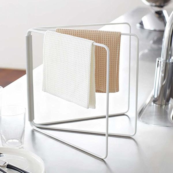 Towel Rack Folding Cloth Hangers Slim Plate Hanging Dish Over Stand Hanger Kitchen