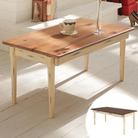 センターテーブル 折れ脚タイプ シャビー調 デイジー 幅80cm ( 送料無料 折りたたみ リビングテーブル 天然木製 パイン材 ローテーブル 机 デスク 北欧 カントリー調 家具 )
