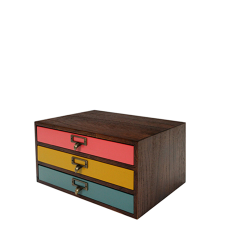 Lettercase A4 Horizontal Three Comet Comet Storage Box Drawer Wood  Paulownia Wood (file Case Desk Tray Drawer Antique Storage Case Documents  Case Desk Chest ...