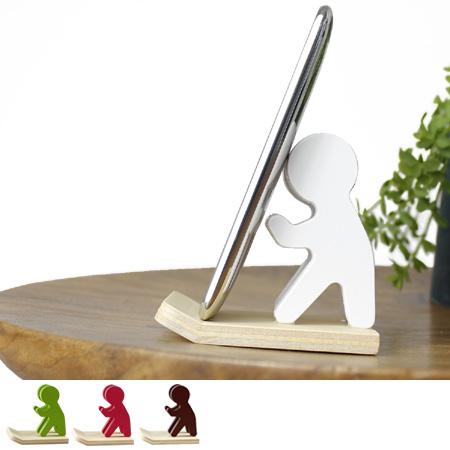 ピクトさんがスマホを支えてくれるかわいい携帯ホルダー 携帯スタンド スマホスタンド スマホ立て スマートフォン iphone スタンド 携帯ホルダー ヤマト工芸 携帯 木製 専門店 man インテリア ホルダー スマホ 信憑 guard yamato アイフォン
