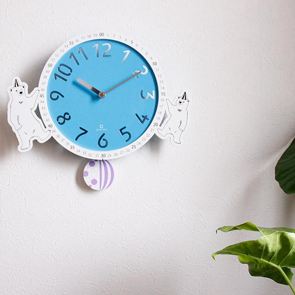 サーカスモチーフでシンプルなデザインの振り子時計 振り子時計 ヤマト工芸 yamato 掛け時計 卓抜 クロック 動物 シロクマ 壁掛け 送料無料 壁時計 壁掛け時計 見やすい 白くま 知育時計 時計 分表示 かわいい アナログ 子ども部屋 インテリア ☆新作入荷☆新品 練習 サーカス ウッドクロック