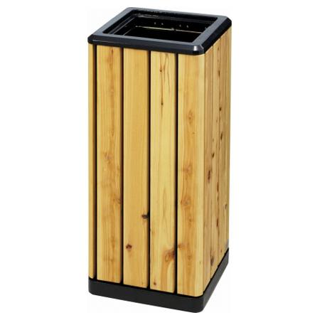 屋外用ダストボックス 木調K-300間伐 (ゴミ箱 ヤマザキ ダストボックス 木 山崎産業 送料無料 )
