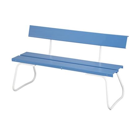 樹脂製ベンチ 背付き 150cm ( 送料無料 公園 ガーデン 椅子 )
