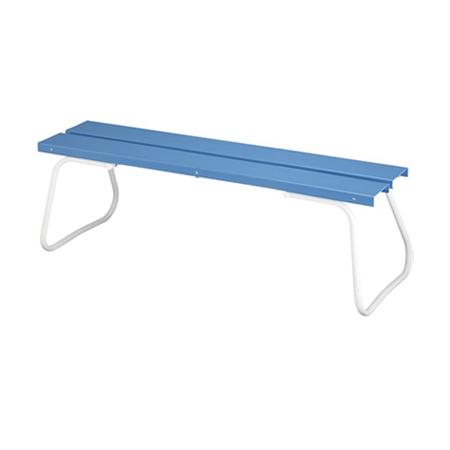 樹脂製ベンチ 背なし 150cm ( 送料無料 公園 ガーデン 椅子 )
