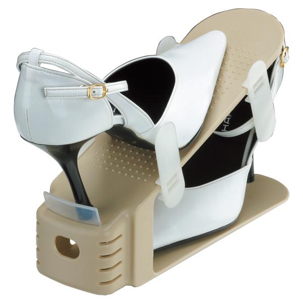 靴 収納 くつホルダー スリム 18個セット 6個セット×3 ( 靴ホルダー 収納 靴箱整理 グッズ スリム 靴 靴箱 下駄箱 くつ クツ 省スペース シューズホルダー 靴収納スペース1/2 レディース )