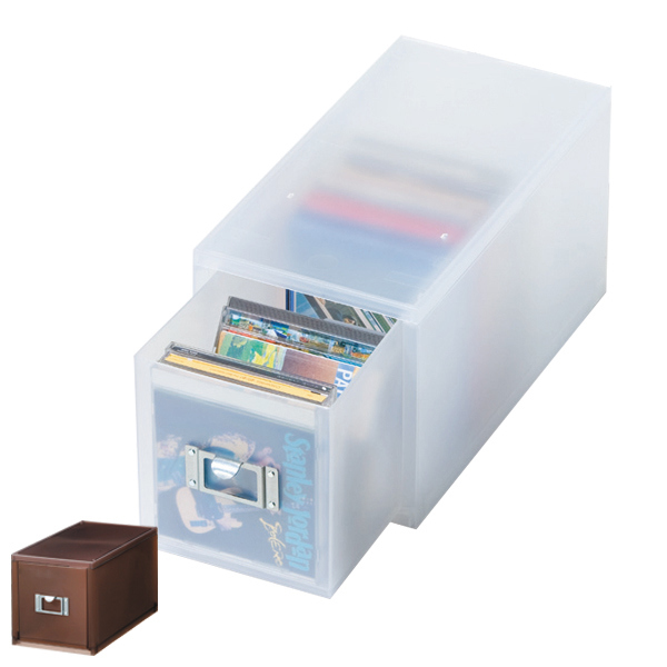 シリーズで揃えてデスク周りを整理整頓 収納ボックス 引き出し プラスチック MX-30 深型 CD 収納 日本製 ( 小物収納 収納ケース ケース ボックス 引出し 小物ケース 小物 書類 卓上収納 整理整頓 デスク周り レターケース 事務用品 おしゃれ )