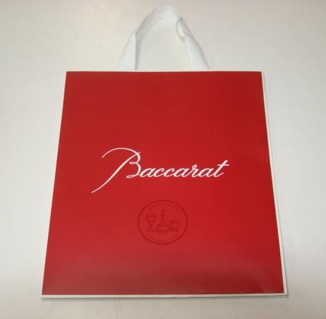 日本最大級の品揃え バカラのロゴ入り紙袋 引出物 バカラの紙袋 新しいデザインです