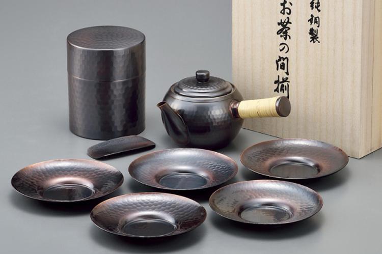 アサヒ 食楽工房 夢~ゆめ 横手急須・茶筒・茶托セット ストレーナ・茶箕付 CB524 木箱入り 日本製
