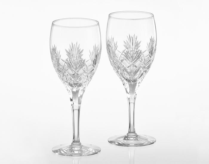 名入れグラス 代引き不可 結婚の御祝 カガミクリスタル KAGAMI CRYSTAL 特選切子 ペアワイングラス 赤<ボナール> KWP274-2532 レリーフ エッチング 名入れ 彫刻 刻印料込み グラス名入れ