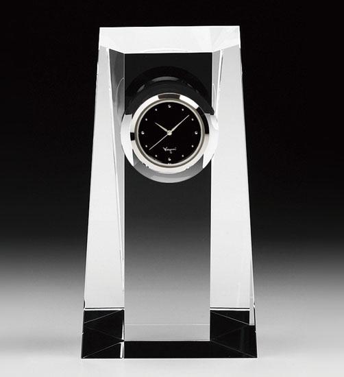 カガミクリスタル KAGAMI CRYSTAL Q428 オプティカルクロック 置時計