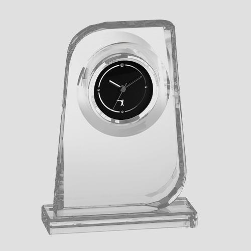 カガミクリスタル KAGAMI CRYSTAL オプティカルクロック 置時計 Q461 H19cm