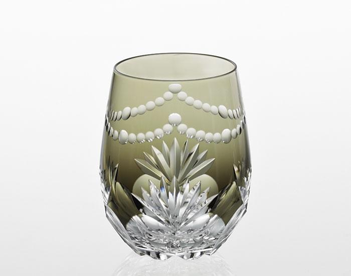 カガミクリスタル KAGAMI CRYSTAL T739-2761-BLK ワイングラス 江戸切子 <華>シリーズ 万両 木箱入り
